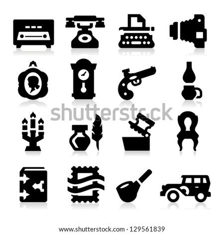 Vintage Icons - stock vector