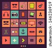 Vintage Icons Set. Retro backgrounds - stock vector
