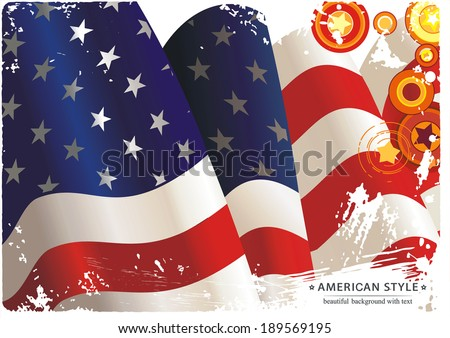 Vintage independence day poster with national flag. Vector illustration 8 eps - stock vector