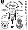 Vintage Indian Collection with Dream catcher and arrows - stock