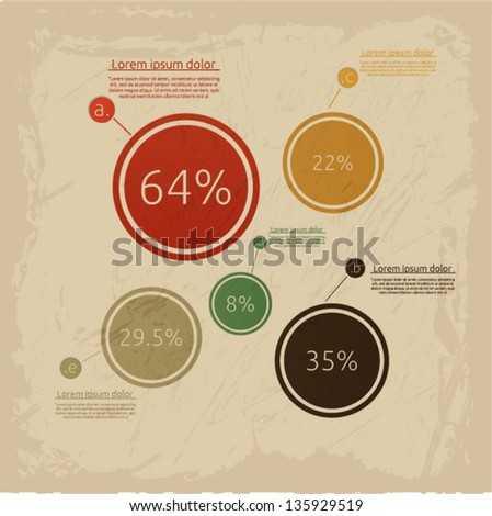 Vintage infographic template. Vector illustration.