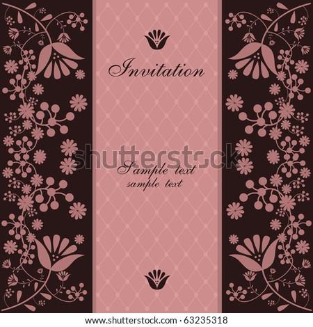 vintage invitation - stock vector