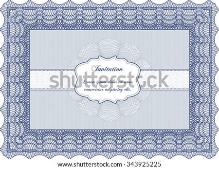 Vintage invitation. Artistry design. With background. Border, frame. - stock vector