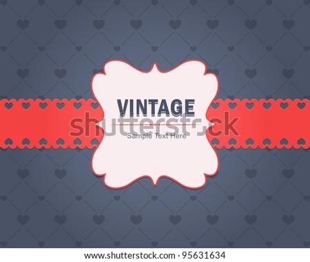 Vintage Invitation Card Vector Design - stock vector