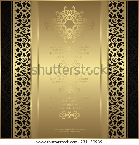 Vintage invitation on seamless background. Can be used as certificate or diploma      - stock vector