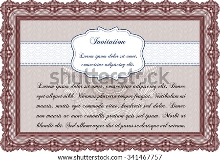 Vintage Invitation Template Quality Background Sophisticated Stock ...