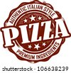 Vintage Italian Pizza Stamp - stock vector