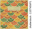 Vintage Japan-style Wave Pattern Cover Design - stock photo