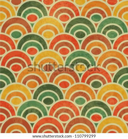 Vintage Japan-style Wave Seamless Pattern - stock vector