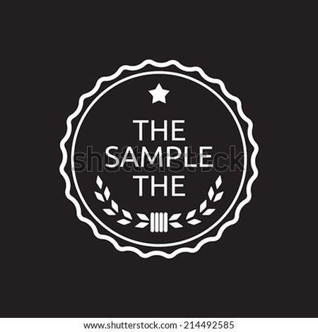 Vintage label badge - stock vector