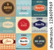 Vintage Label Design Set - stock vector