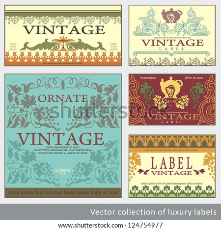 vintage label design template sticker template stock vector