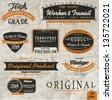 Vintage label set, retro vector set. - stock