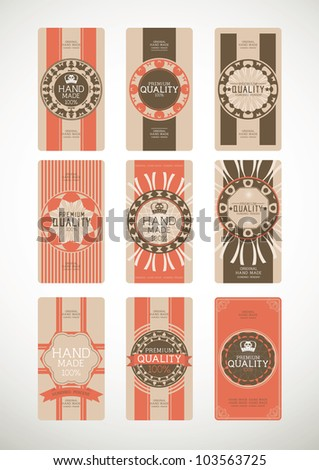 Vintage label Style with Nine Design Element , collection 22 - stock vector