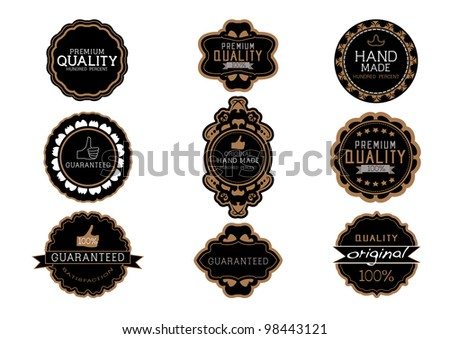 Vintage label Style with Nine Design Element , collection 08 - stock vector