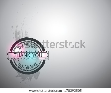 vintage label with thank you  - stock vector