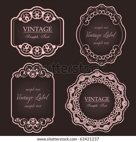 vintage labels - stock vector