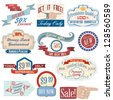 Vintage labels and stickers set - stock vector