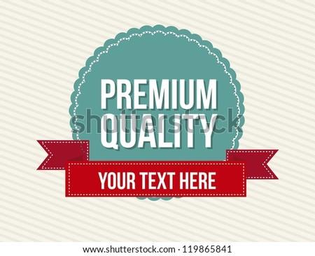 vintage labels over beige background. vector illustration - stock vector