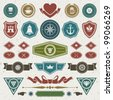 Vintage labels retro style set. Vector design elements. - stock vector