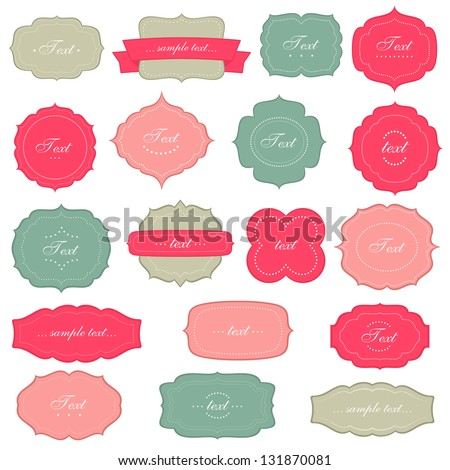 Vintage labels set - stock vector