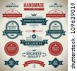 Vintage labels set. Vector design elements. - stock
