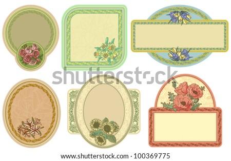Vintage labels set, vector illustration - stock vector