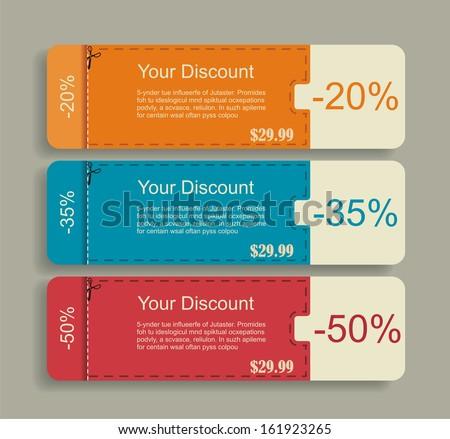 Vintage Labels template set. Sale, discount theme. Retro logo template design.  - stock vector