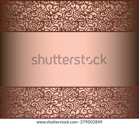 Vintage lace background for envelope, card or invitation with abstract lace borders. Red Marsala color. Vector - stock vector
