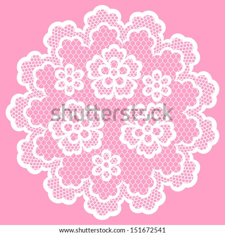 Vintage lace frame, abstract ornament. Vector texture. - stock vector