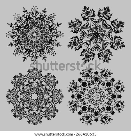 vintage lace frames. vector illustration - stock vector