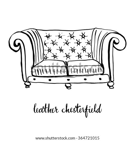 Black chesterfield stock images royalty free images - Sillones vintage retro ...