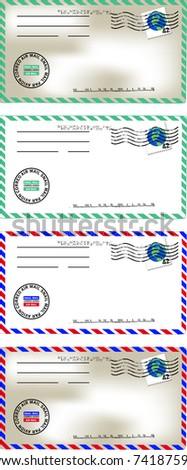 Vintage Letter - stock vector