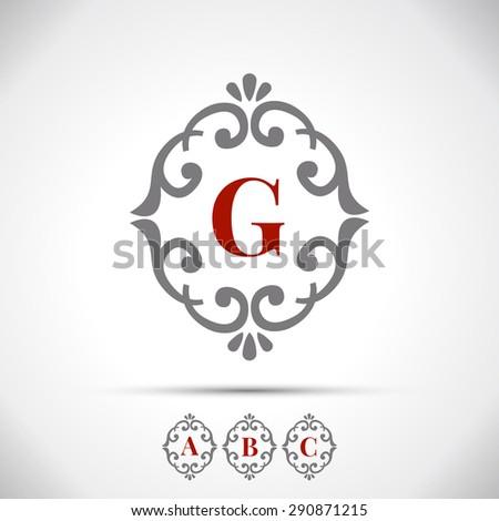 Vintage Letter Logo Frame - stock vector