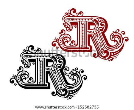 Uppercase letter r stock images royalty free images vectors vintage letter r with ornamental elements in retro style or idea of logo jpeg version thecheapjerseys Gallery