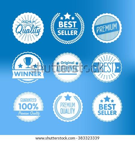Vintage logo. Advertisement sign. Retro logo. Special offer vintage badges. Retail badges. Seller badges. Vintage badges template. Isolated vintage logo. Vintage sign. Seal quality. Premium quality. - stock vector