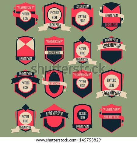 Vintage Logo Vector Set - stock vector