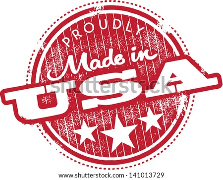 Vintage Made in USA Product Brand Label - stock vector