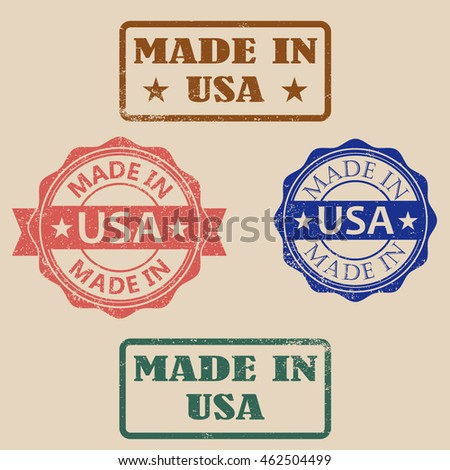 Vintage Made in USA Stamps.