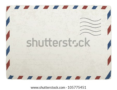 Vintage mailing envelope. Vector template for your designs, EPS 10. - stock vector