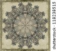 Vintage mandala. Abstract ornamental design - stock vector