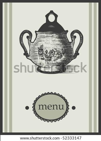 vintage menu design - stock vector