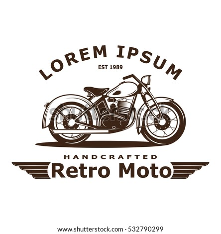 Vintage motorcycle stock images royalty free images for Custom t shirts long island ny