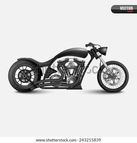 Vintage motorcycle.vector - stock vector