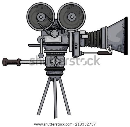 Vintage Movie Camera Vector Illustration Stock Vector 213332737 ...