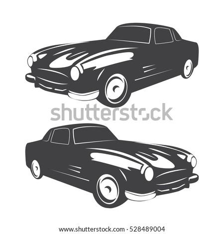 Vintage Muscle Car Vector Abstract Old Vector de stock528489004 ...