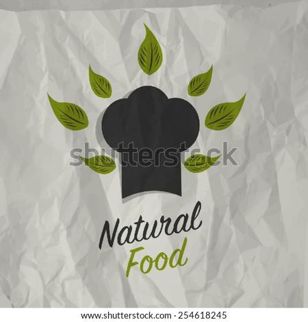 Vintage natural food poster design - stock vector