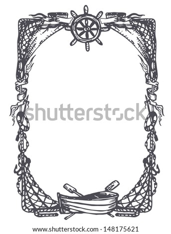 vintage nautical and marine frame - Nautical Frames
