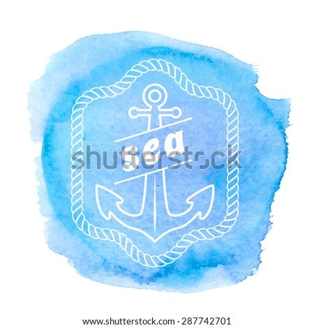 vintage nautical label icon and design element vector  - stock vector