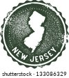 Vintage New Jersey USA State Stamp - stock vector